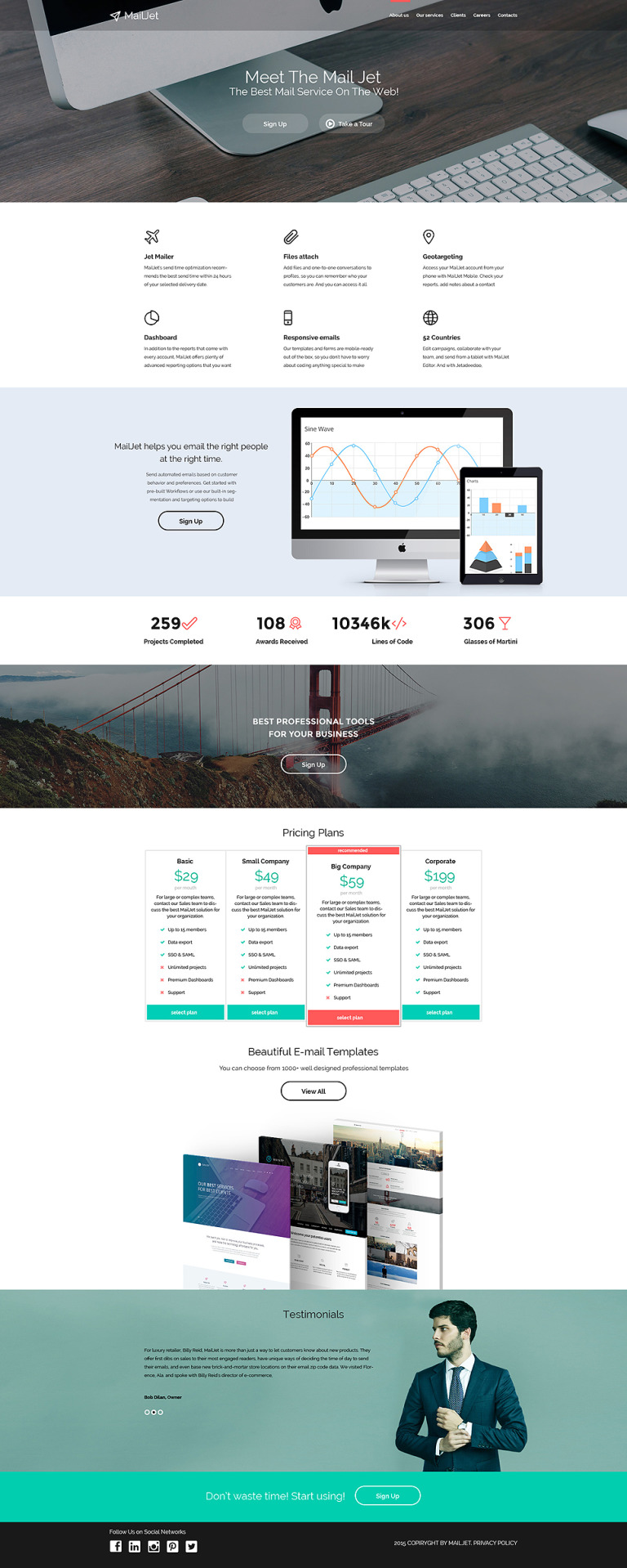 Email Services Responsive Website Template New Screenshots BIG