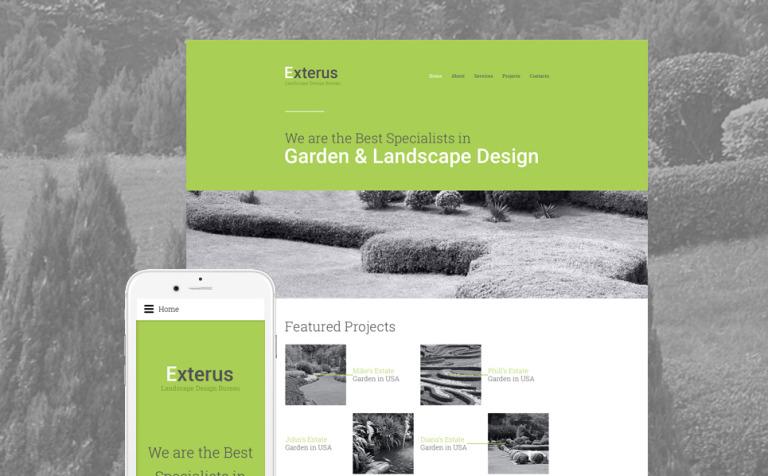 Exterus Website Template