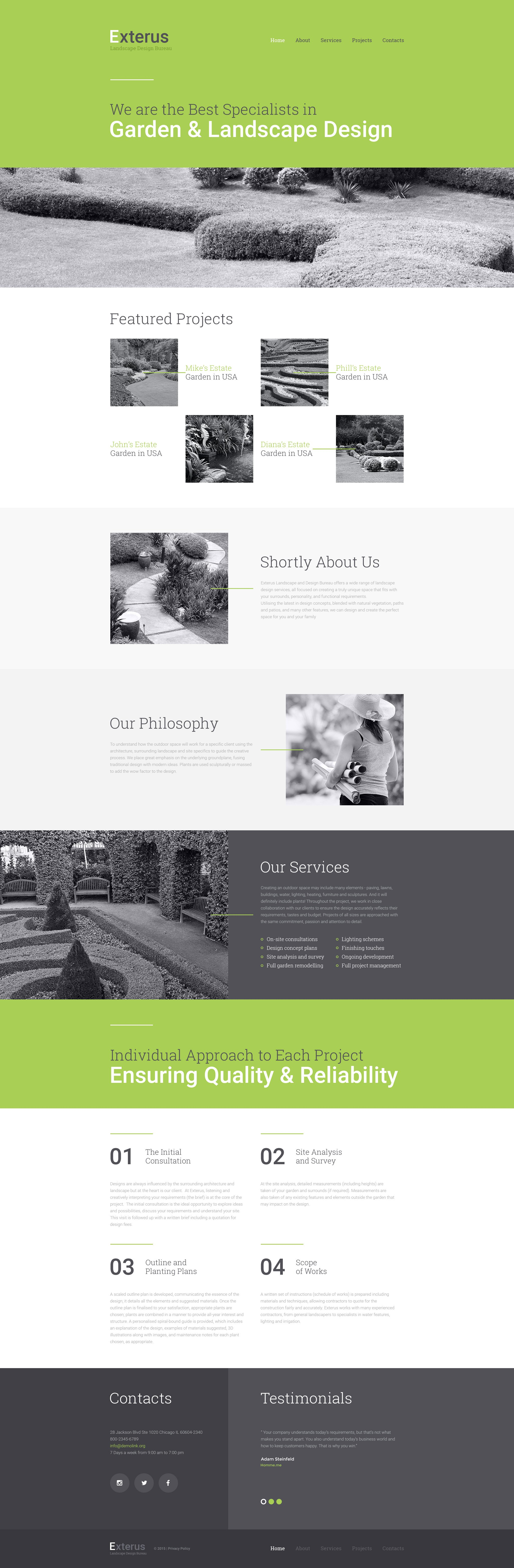Exterus Website Template - screenshot