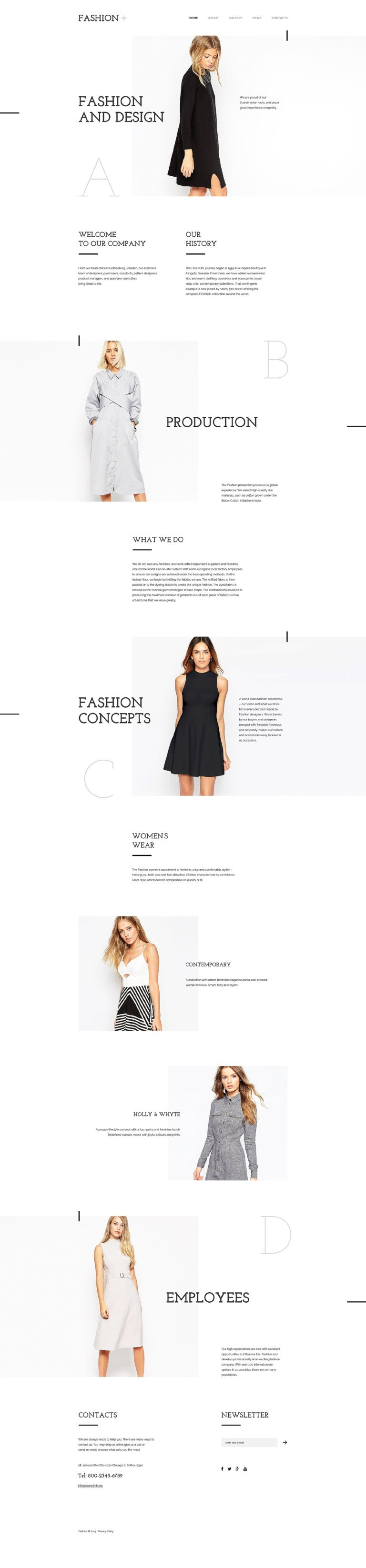 Fashion Website Template New Screenshots BIG