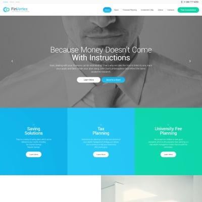Thème WordPress adaptatif  pour un conseiller financier