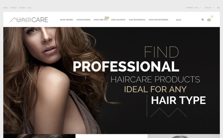 Hair Care PrestaShop Theme