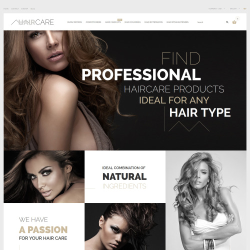Hair Care - PrestaShop Template based on Bootstrap