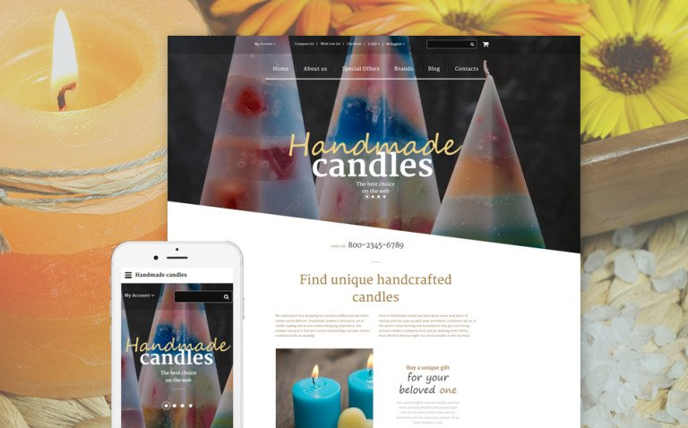 Handmade Candles OpenCart Template New Screenshots BIG
