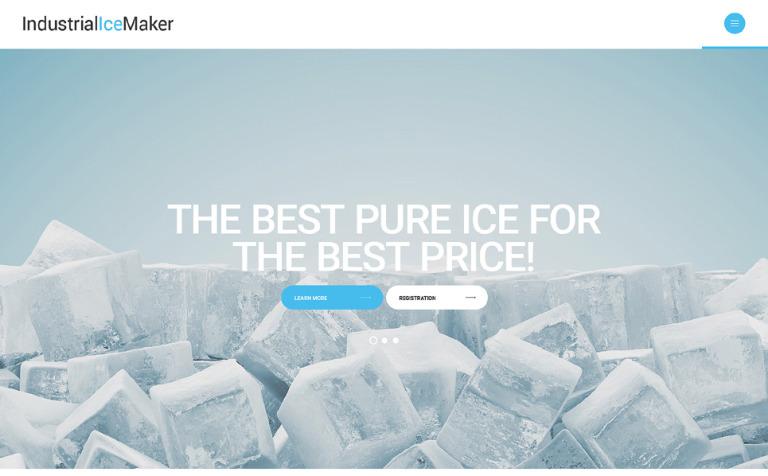 Industrial Ice Maker Website Template