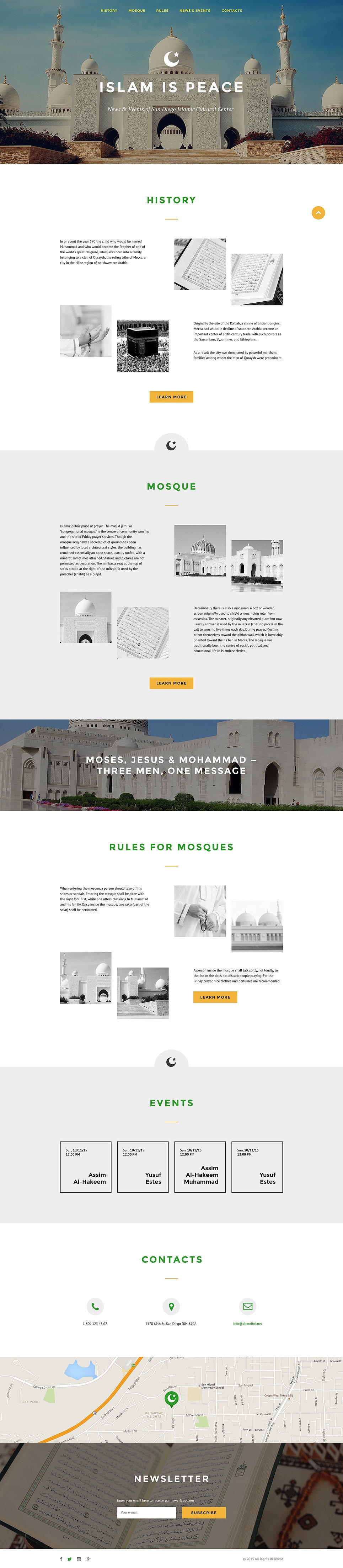 Islam Responsive Landing Page Template New Screenshots BIG