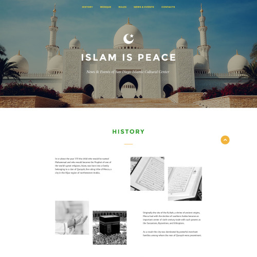 Islam Is Peace - Responsive Landing Page Template
