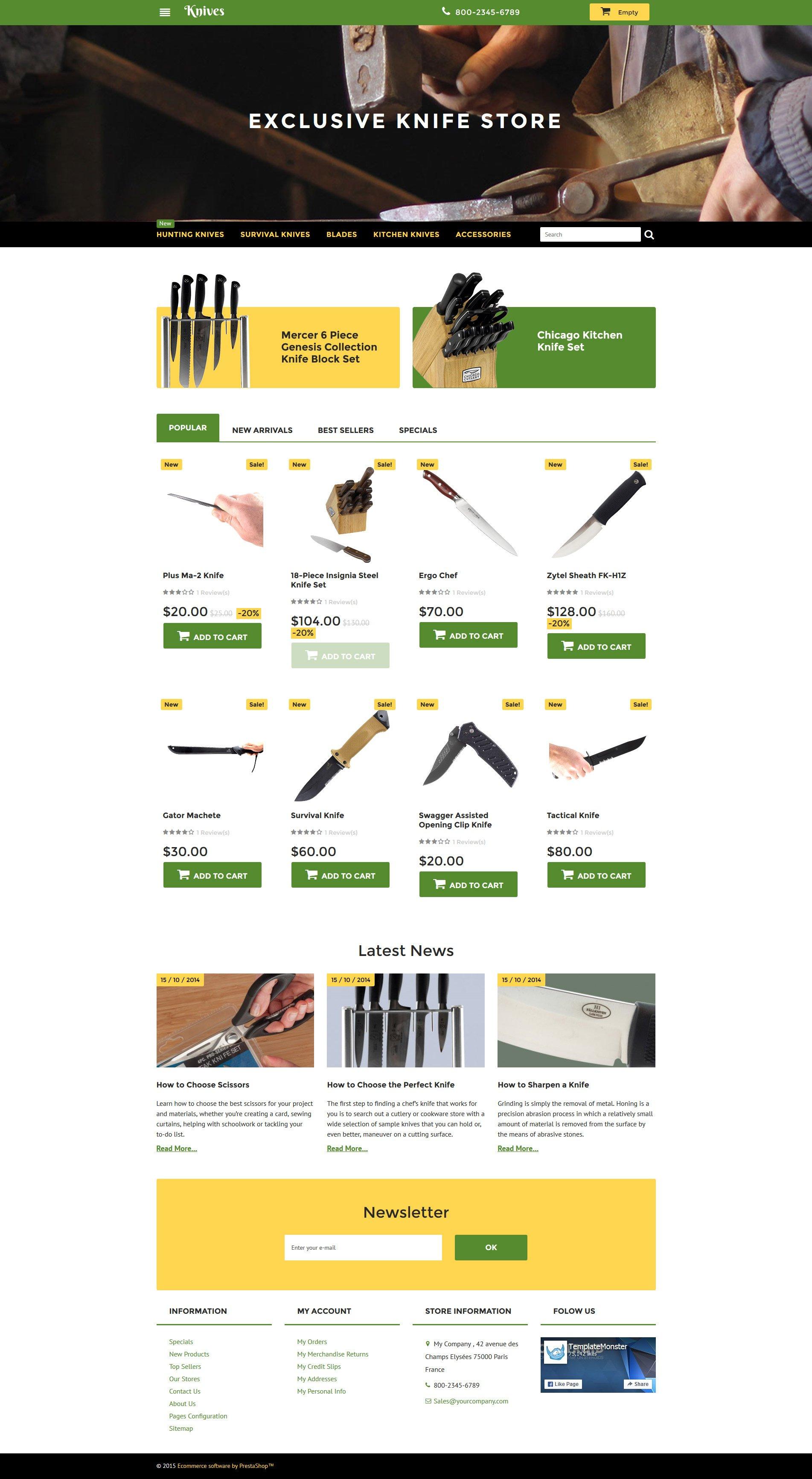 Knives Store PrestaShop Theme