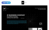 "Landing Page Template namens ""87 - Business & Corporate Creative HTML"""