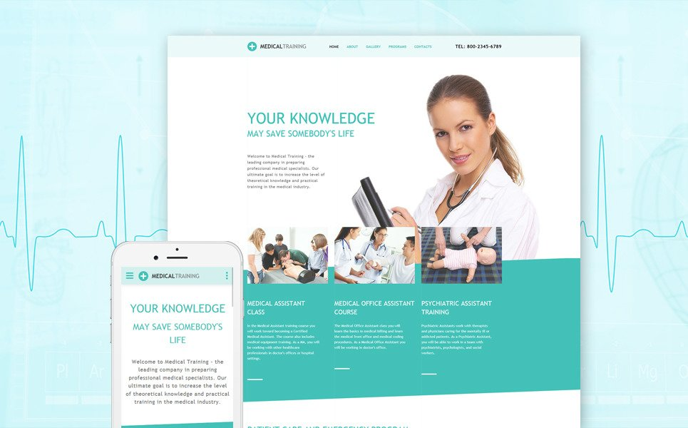 Med School Responsive Website Template New Screenshots BIG