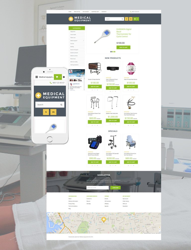 Medical Equipment OpenCart Template New Screenshots BIG