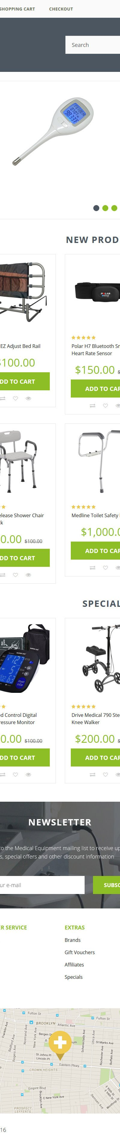 Medical Equipment OpenCart Template