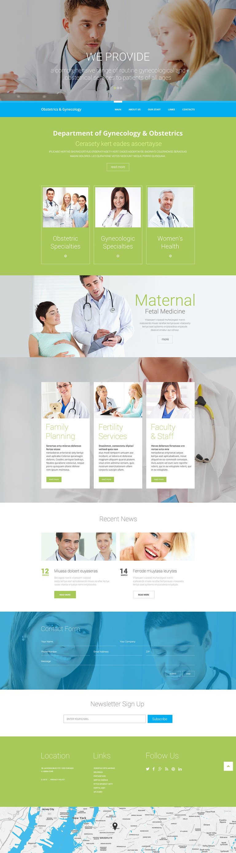 Medical Responsive Website Template New Screenshots BIG