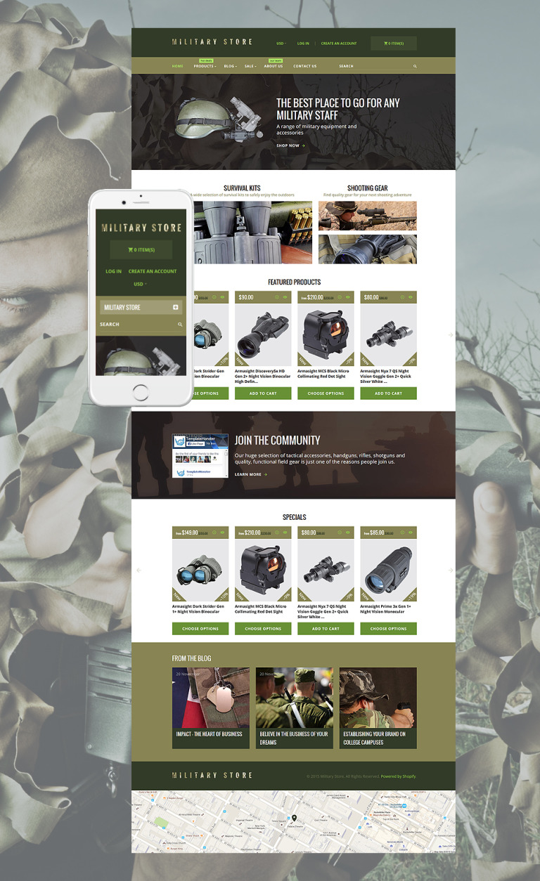 Military Shopify Theme New Screenshots BIG