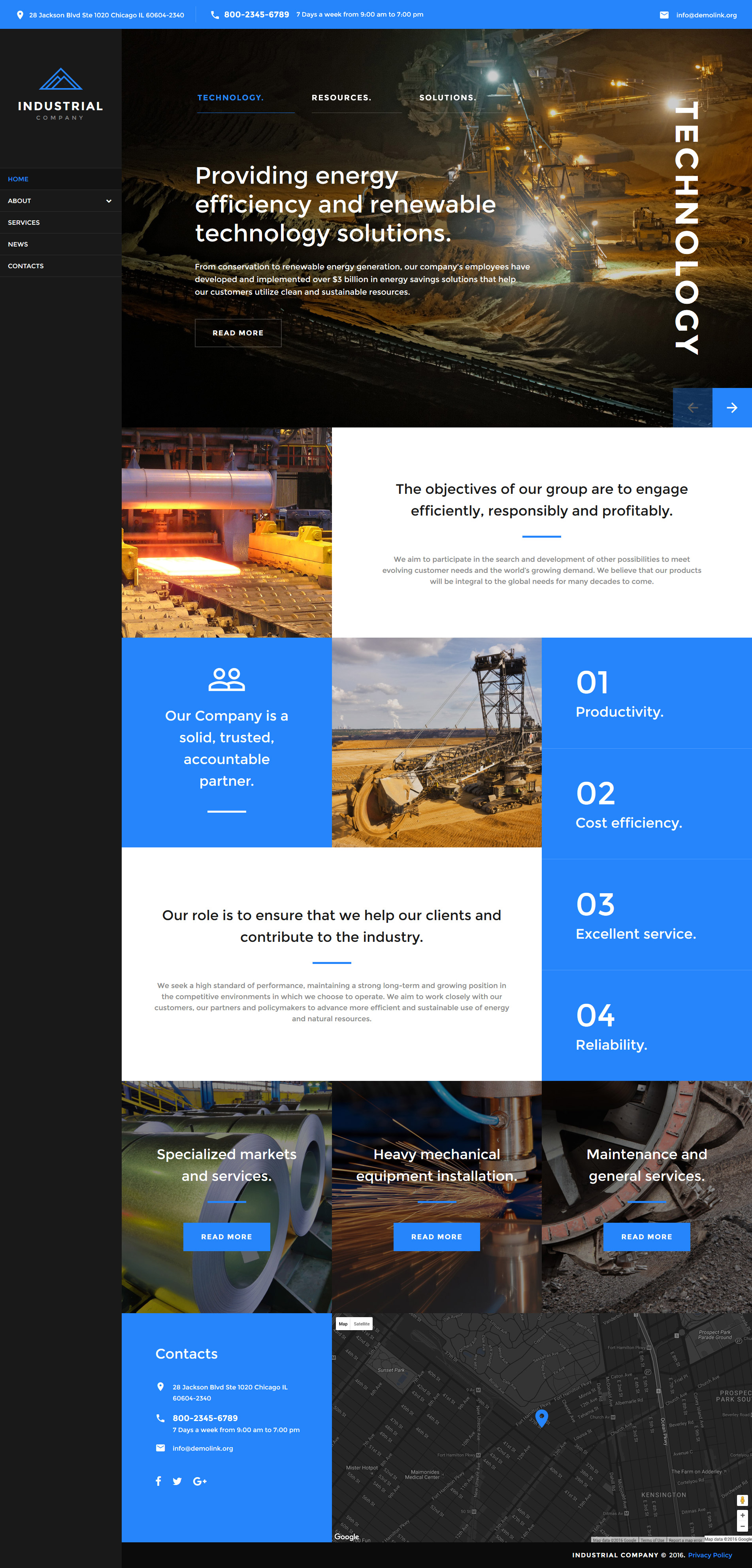 Mining Company Responsive Website Template - screenshot