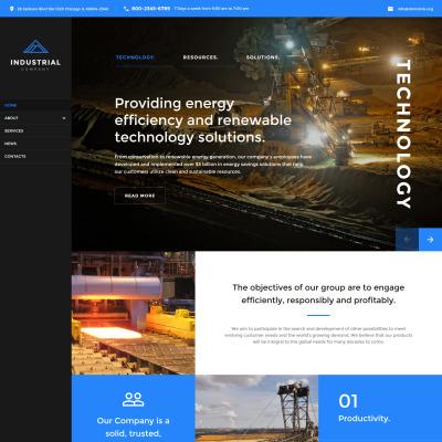 Mining site template mining company responsive website template maxwellsz