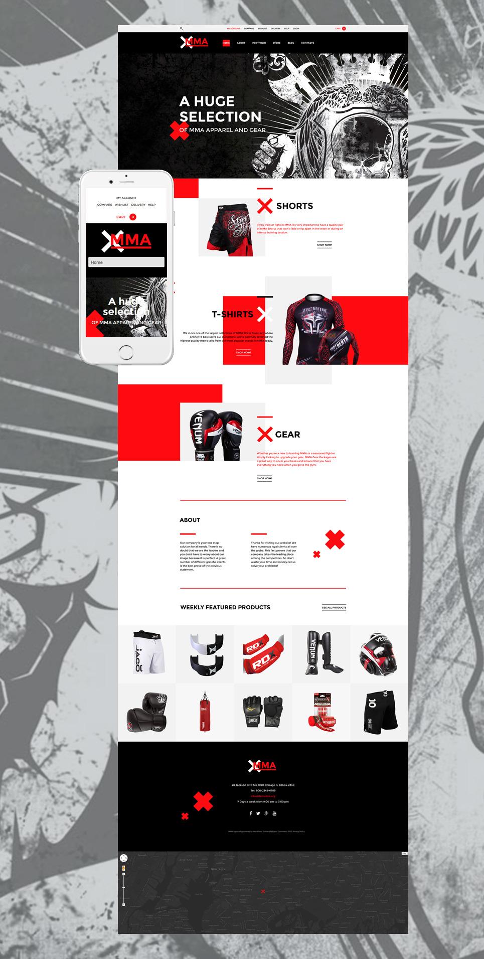 MMA WooCommerce Theme New Screenshots BIG