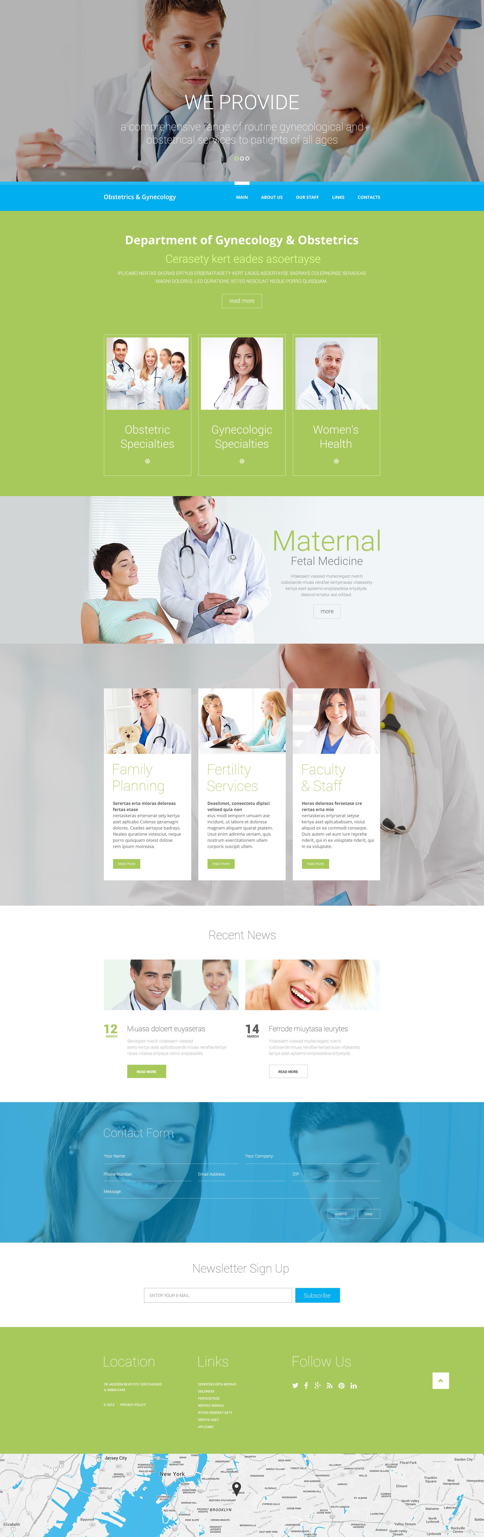 Modèle Web adaptatif pour site médical #57757