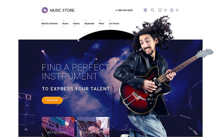 Musical Instruments OpenCart Template