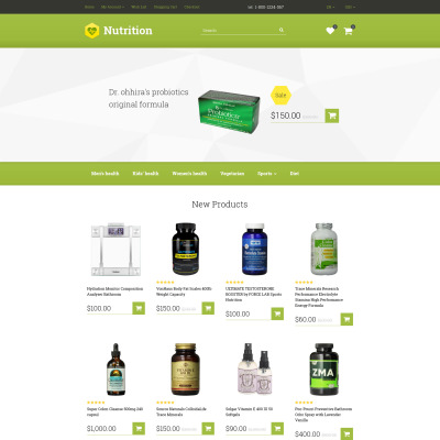 Nutrition store psd templates.