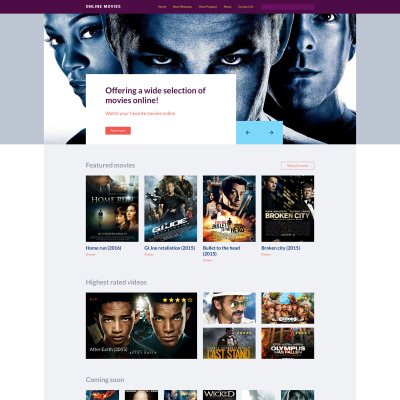 Movie Production Website Template
