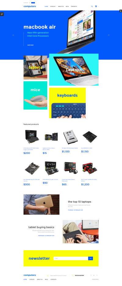 Thème VirtueMart adaptatif  pour boutique informatique