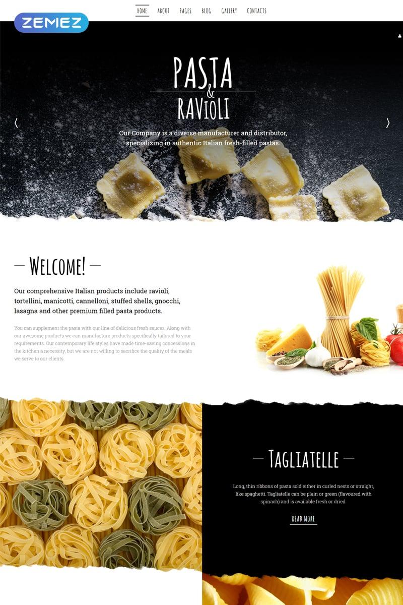 """Pasta  Ravioli"" 响应式Joomla模板 #57779"