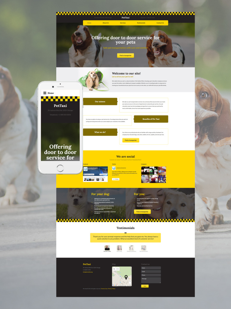 PetTaxi Website Template New Screenshots BIG