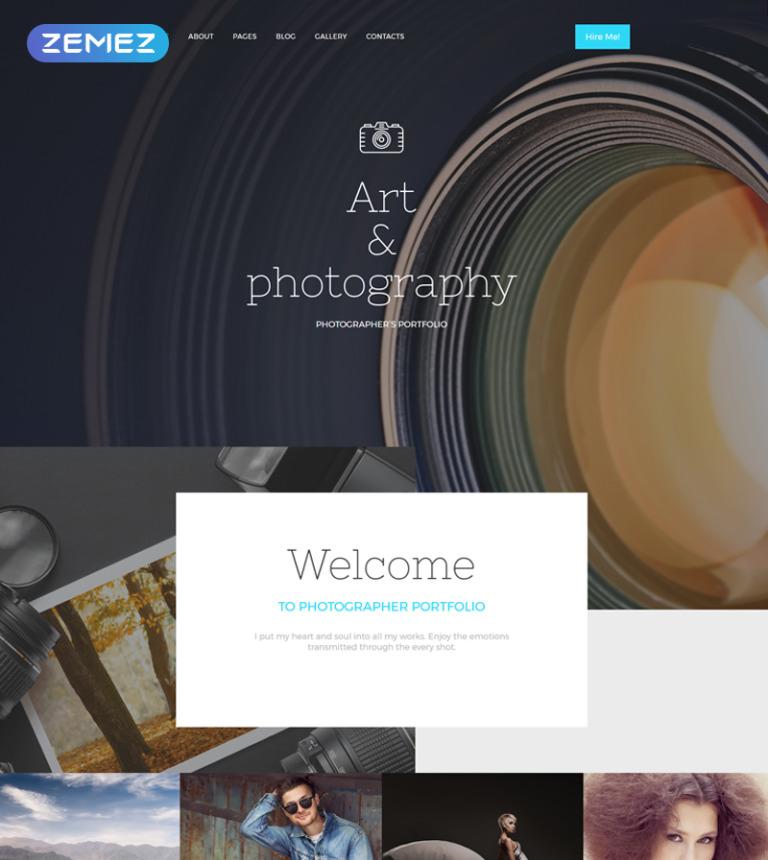 Photographer Portfolio Responsive Joomla Template #57793
