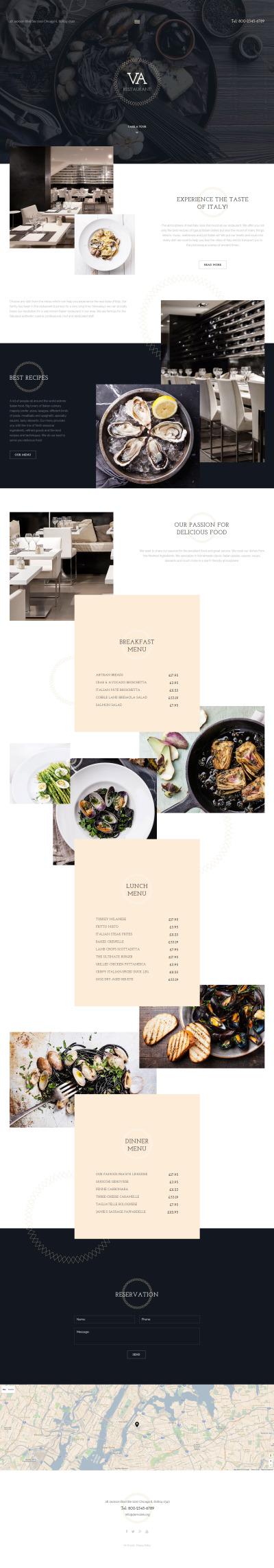 Responsive Plantilla Joomla #57781 para Sitio de  para Sitio de Cafeterías y Restaurantes