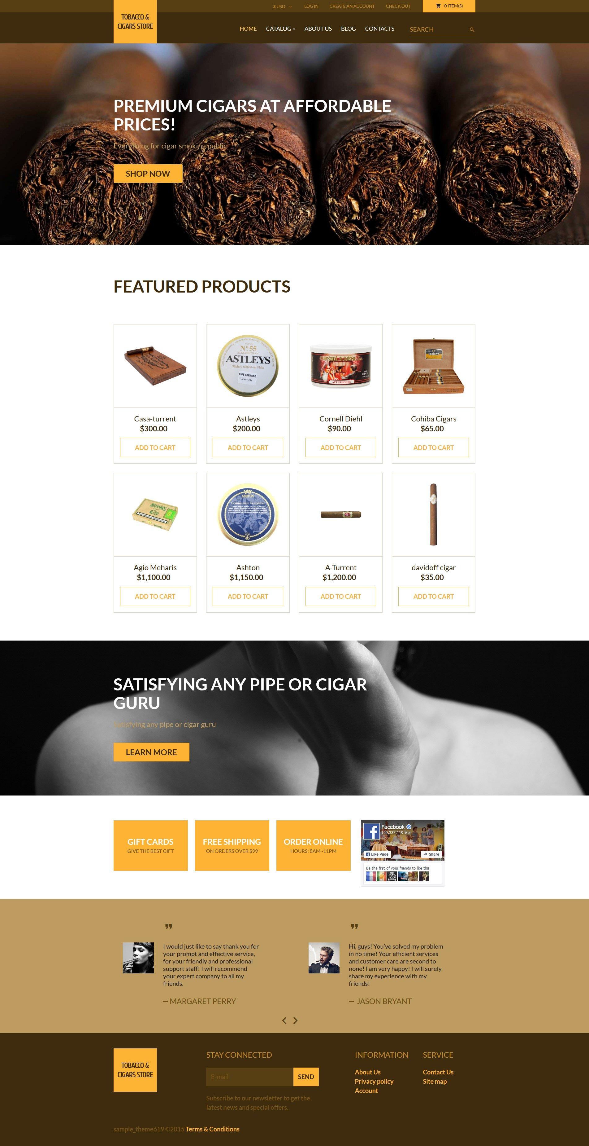 Plantilla VirtueMart #57723 para Sitio de Tabaco