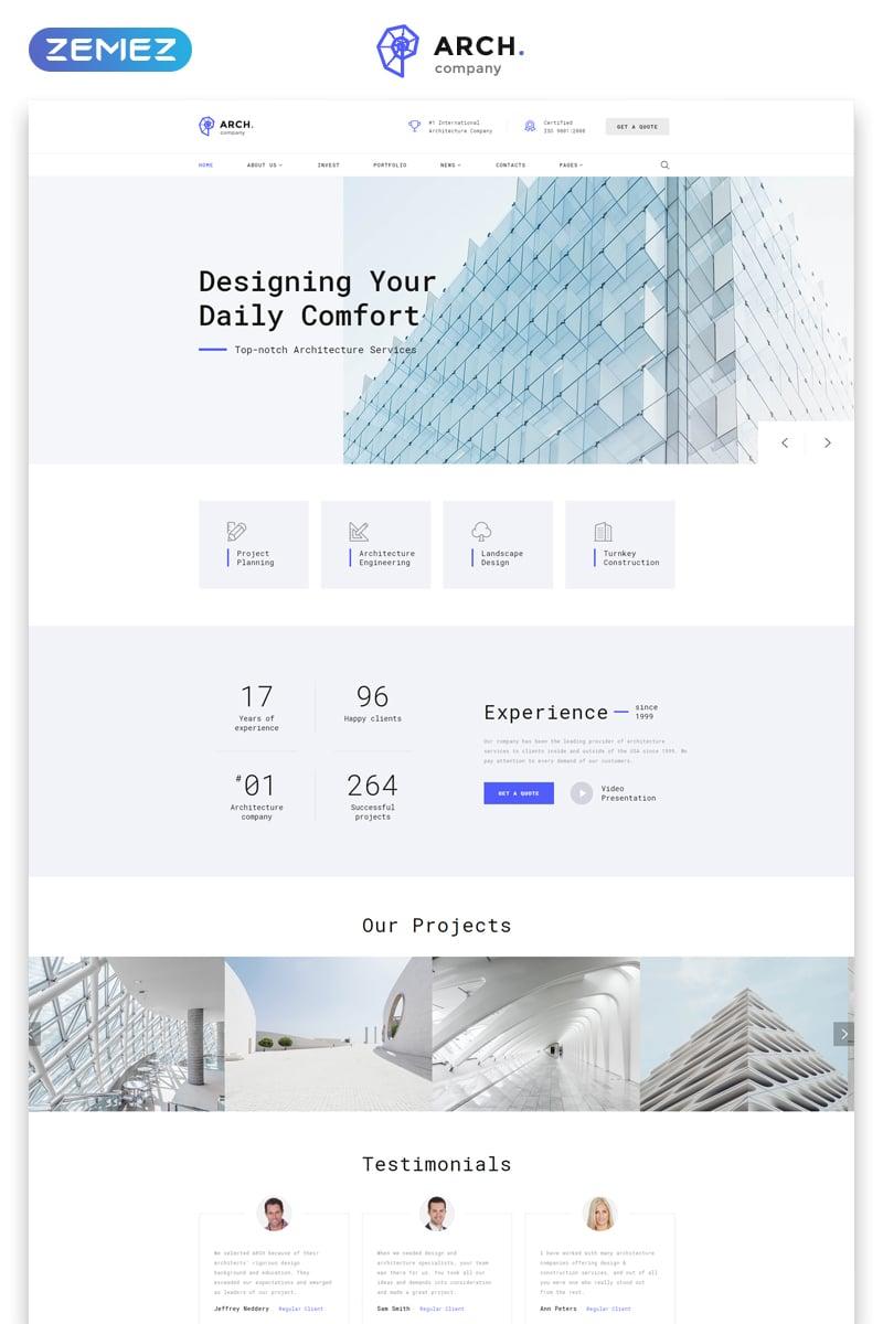 Plantilla web 57726 para sitio de arquitectura for Sitios web de arquitectura