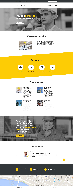 Plantilla web 57730 para sitio de arquitectura for Sitios web de arquitectura