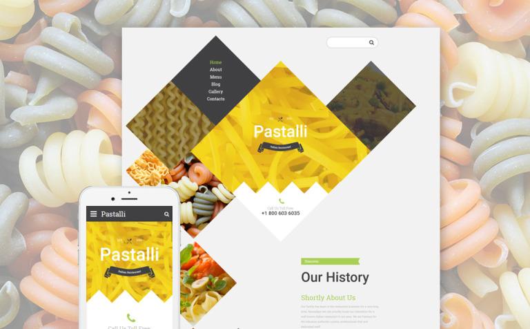 Plantilla Web #57750 para Sitio de Restaurantes italianos