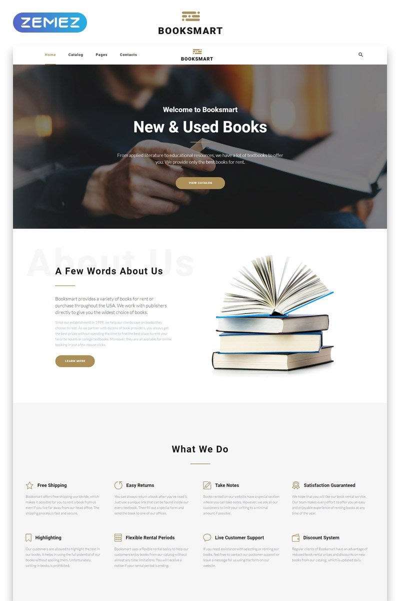 books website template