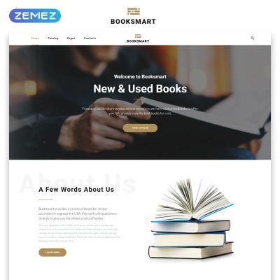 Book website design templates 30 book store website themes.