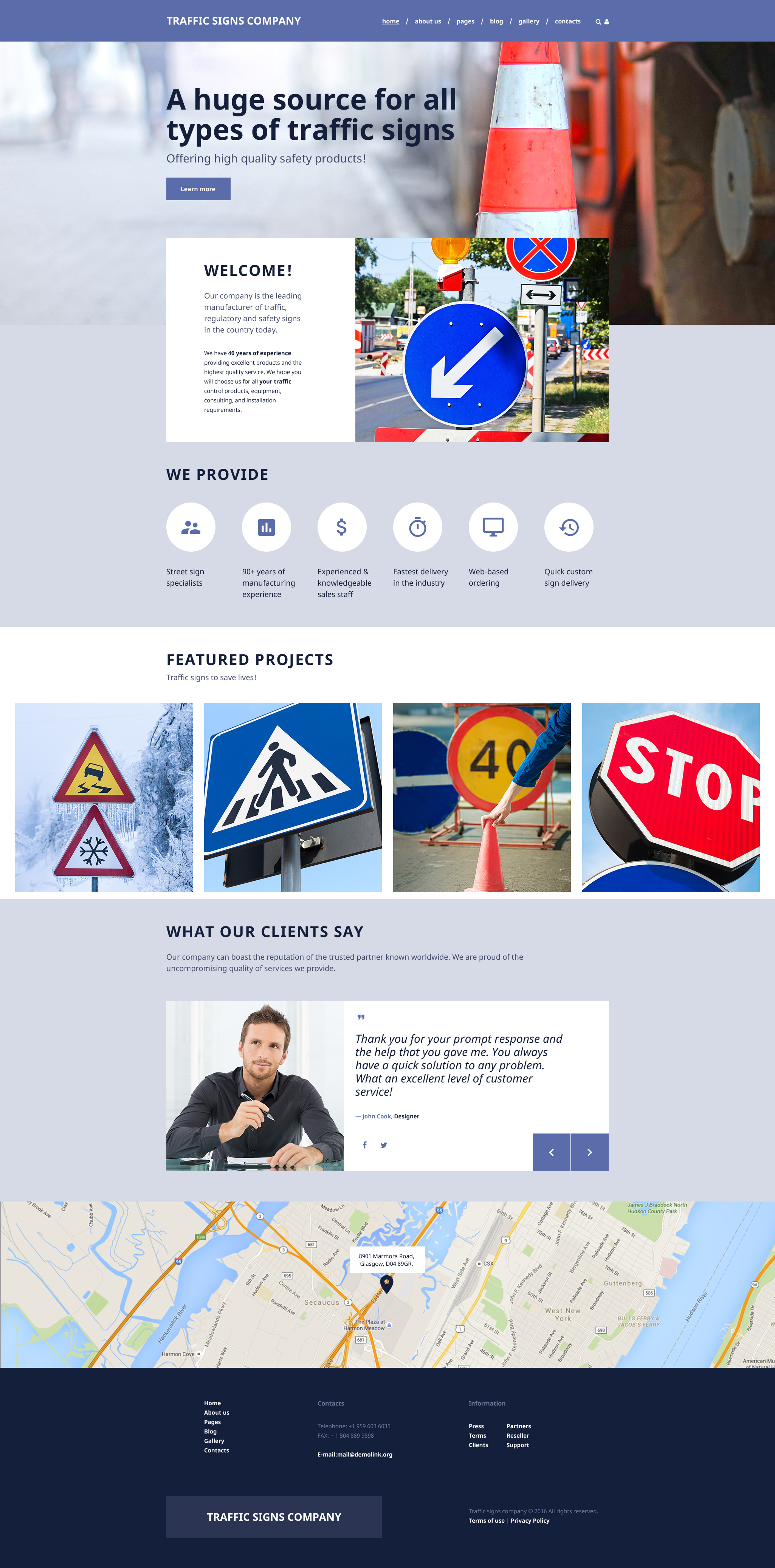 Responsive Road Construction - Paving Multipage Joomla #57749