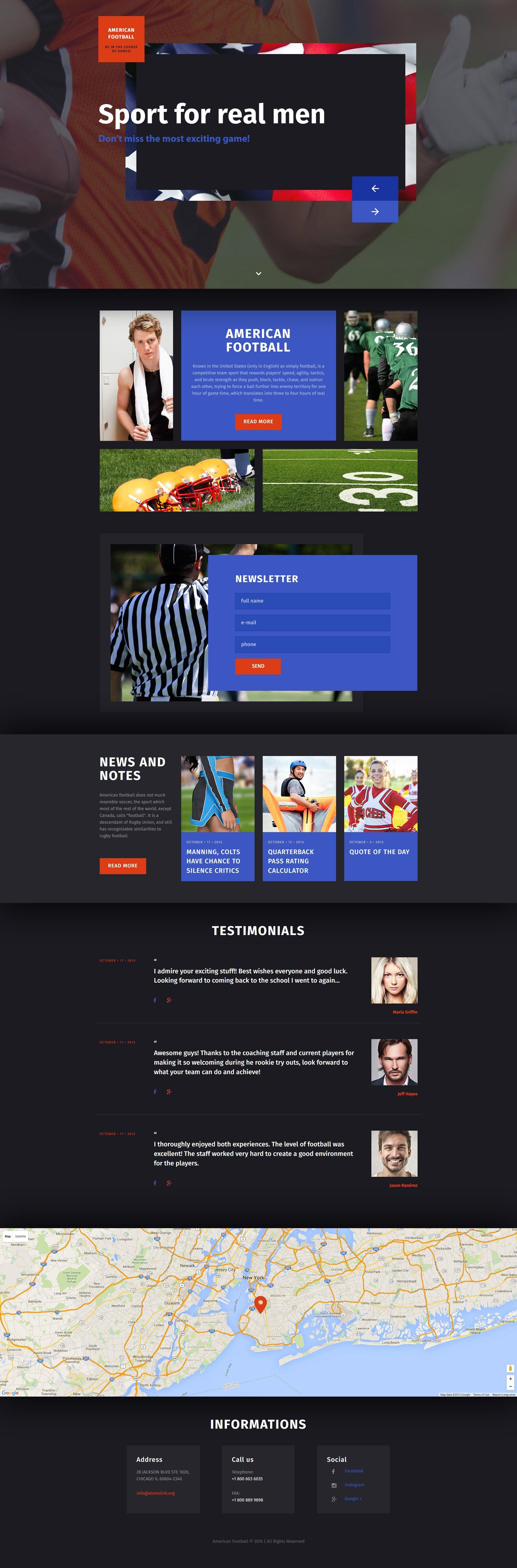 Responsive Rugbi Açılış Sayfası #57734