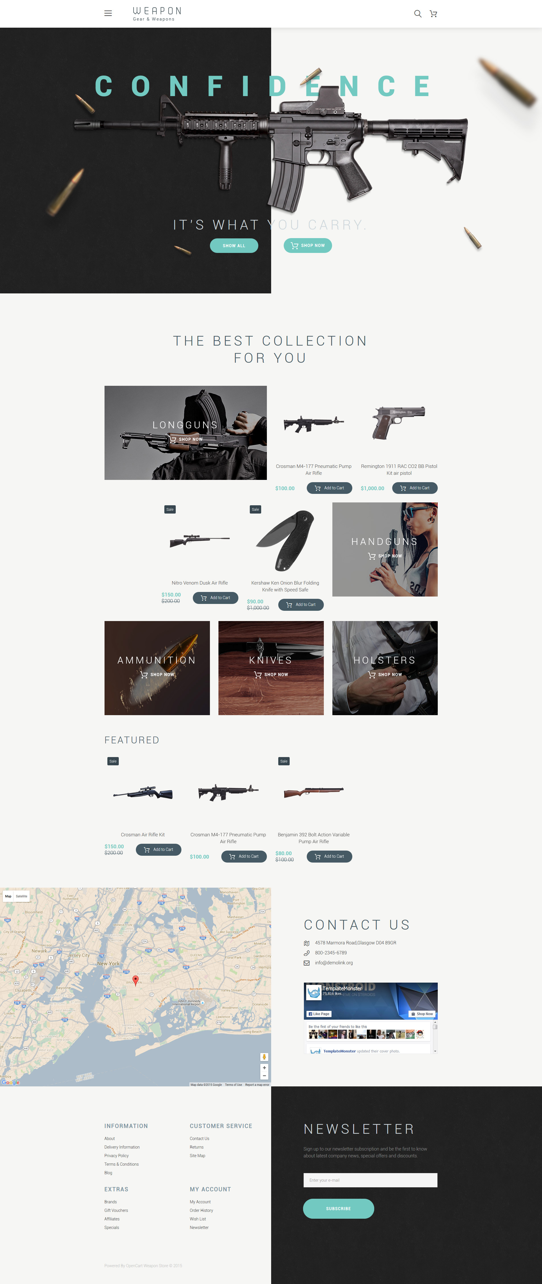 Responsive Weapon Opencart #57747