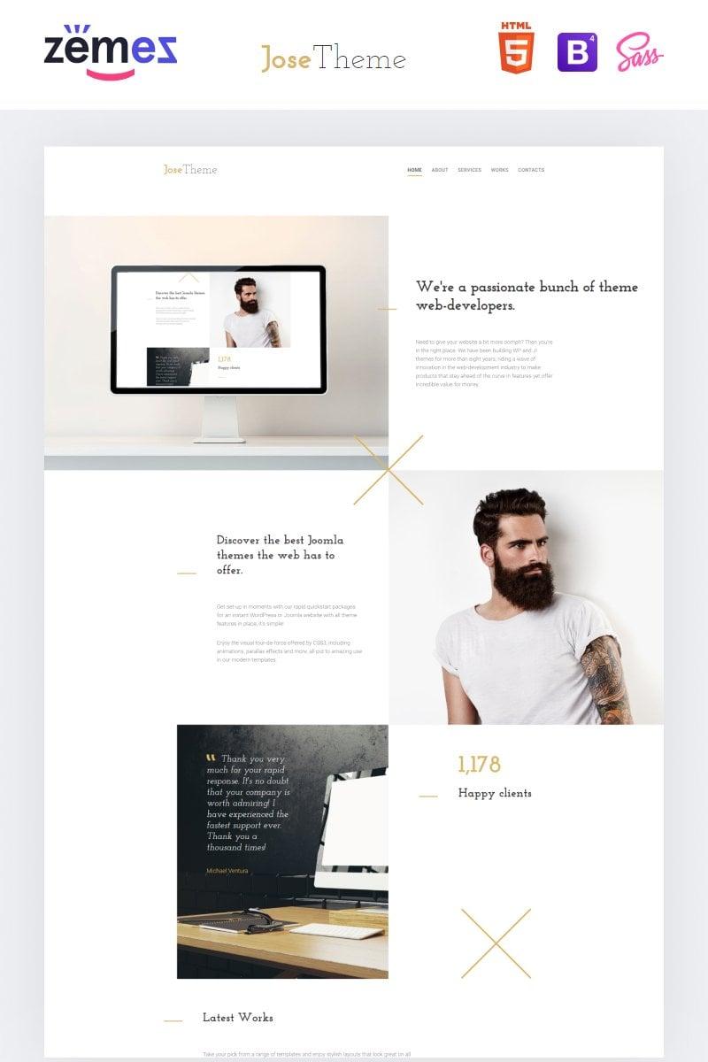 Responsive Website template over Web Design №57784