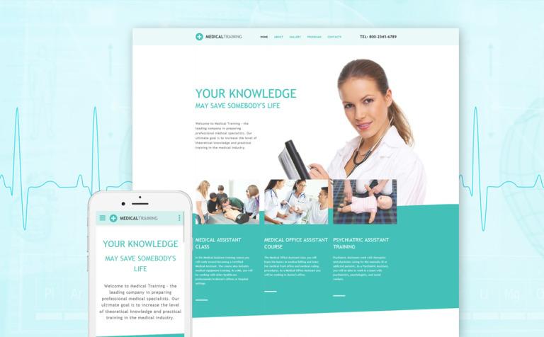 Website Vorlage #57755 für Medizinische Schule