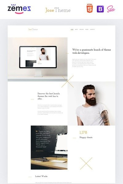 Responsive Website Vorlage für Web Design