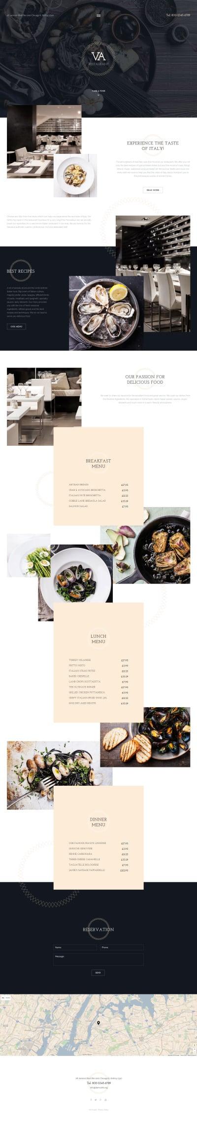 Cafe and Restaurant Responsive Joomla šablona