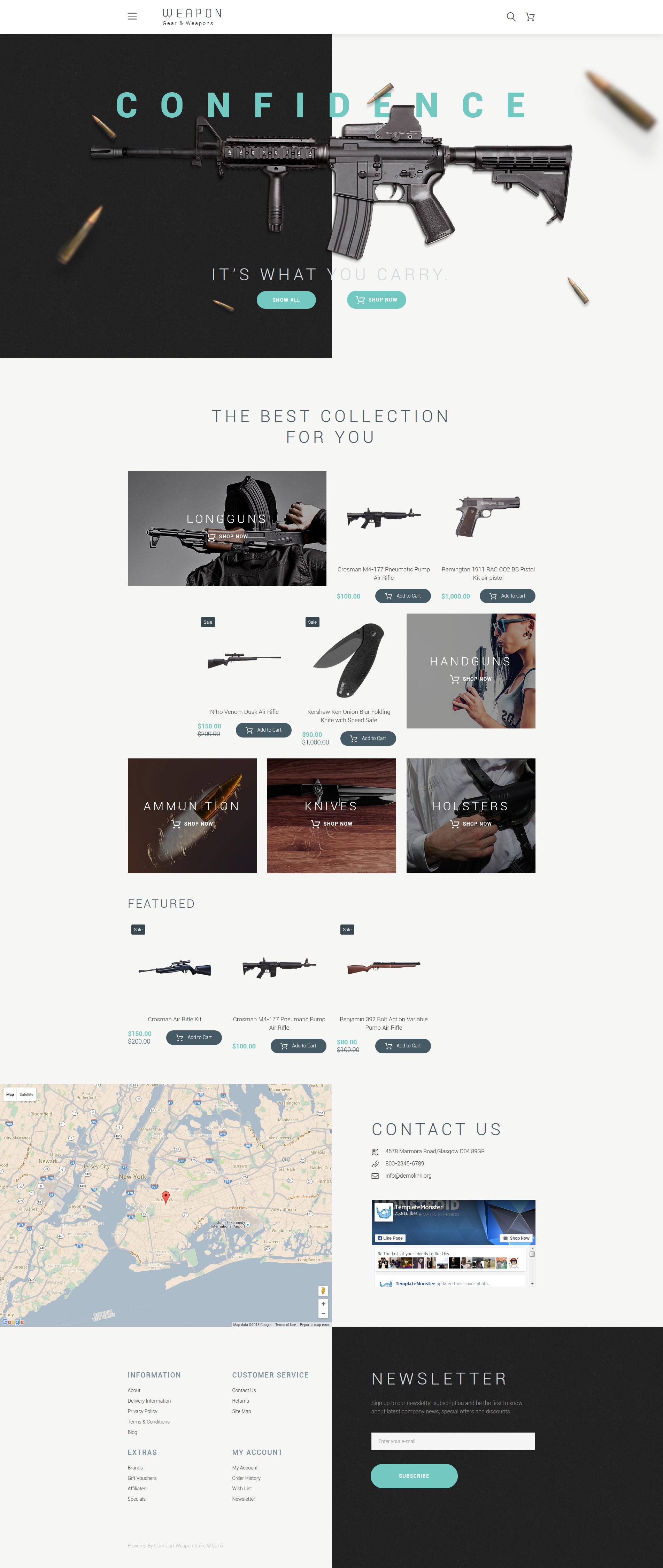 """Responzivní OpenCart šablona """"Weapon"""" #57747"""