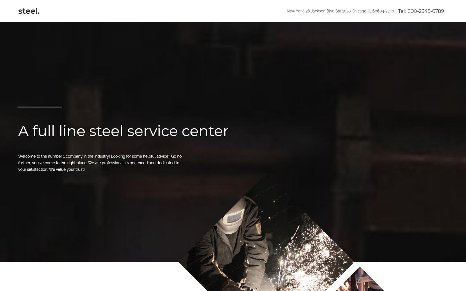 """Responzivní Šablona mikrostránek """"Steelworks"""" #57716"""
