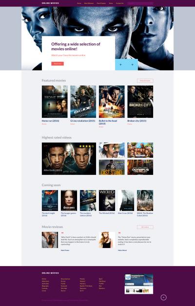 Movie Responsive Šablona Webových Stránek