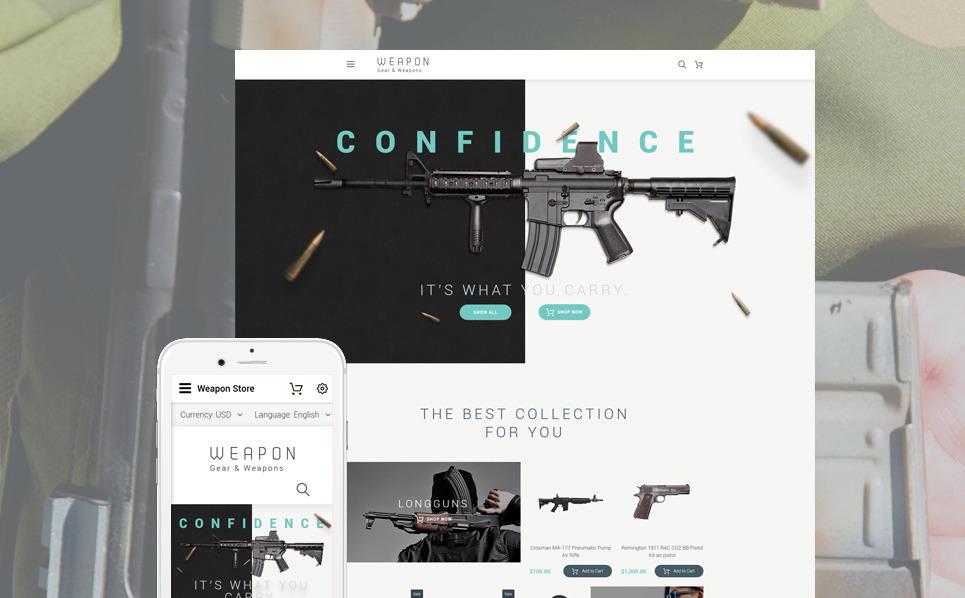 Reszponzív Fegyverboltok OpenCart sablon New Screenshots BIG