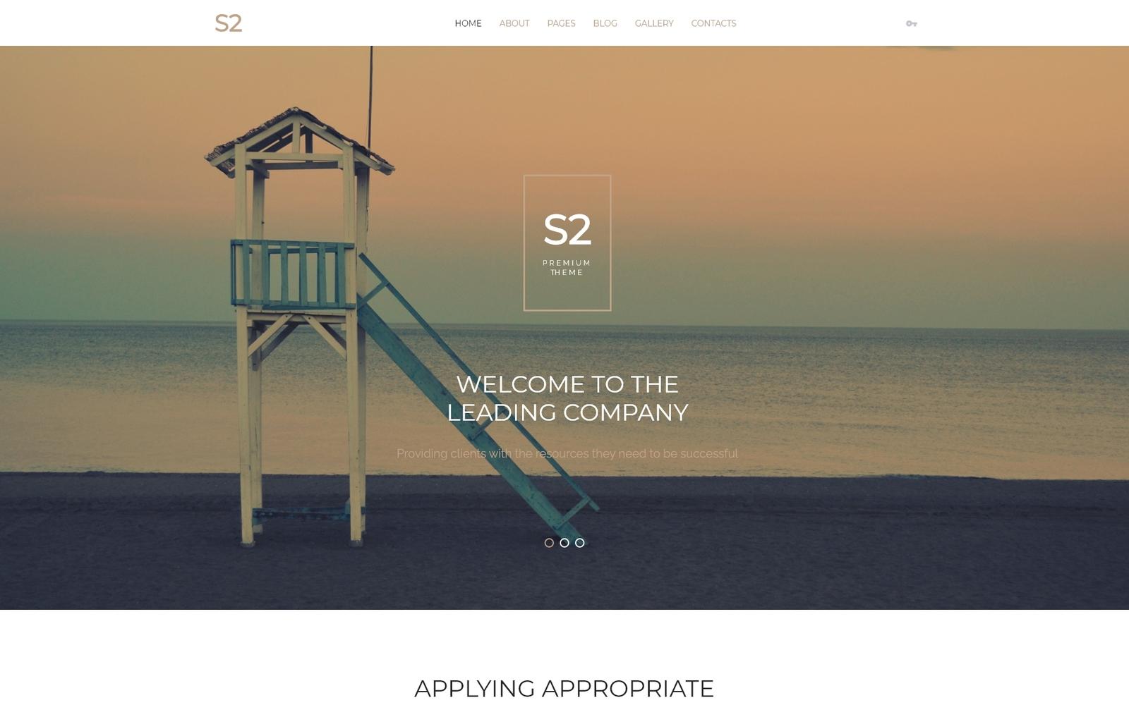 Reszponzív S2 Business Company Joomla sablon 57752