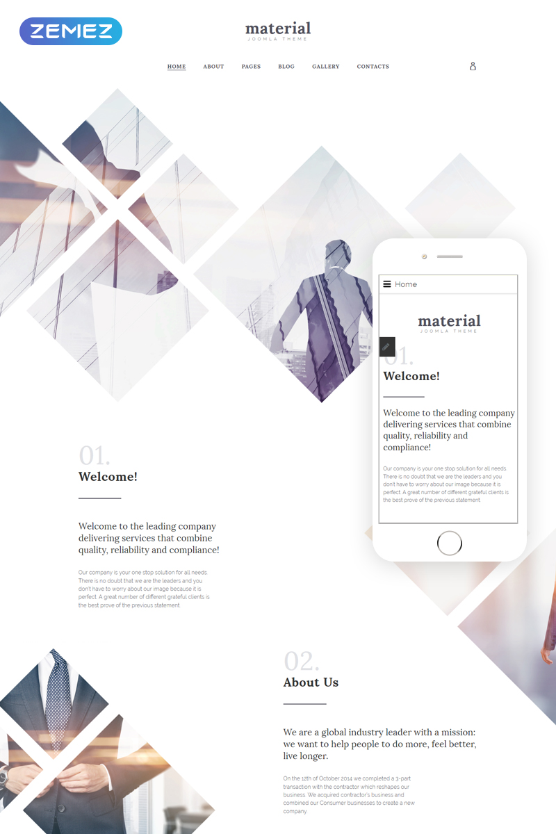 Rhombus Joomla Template - screenshot