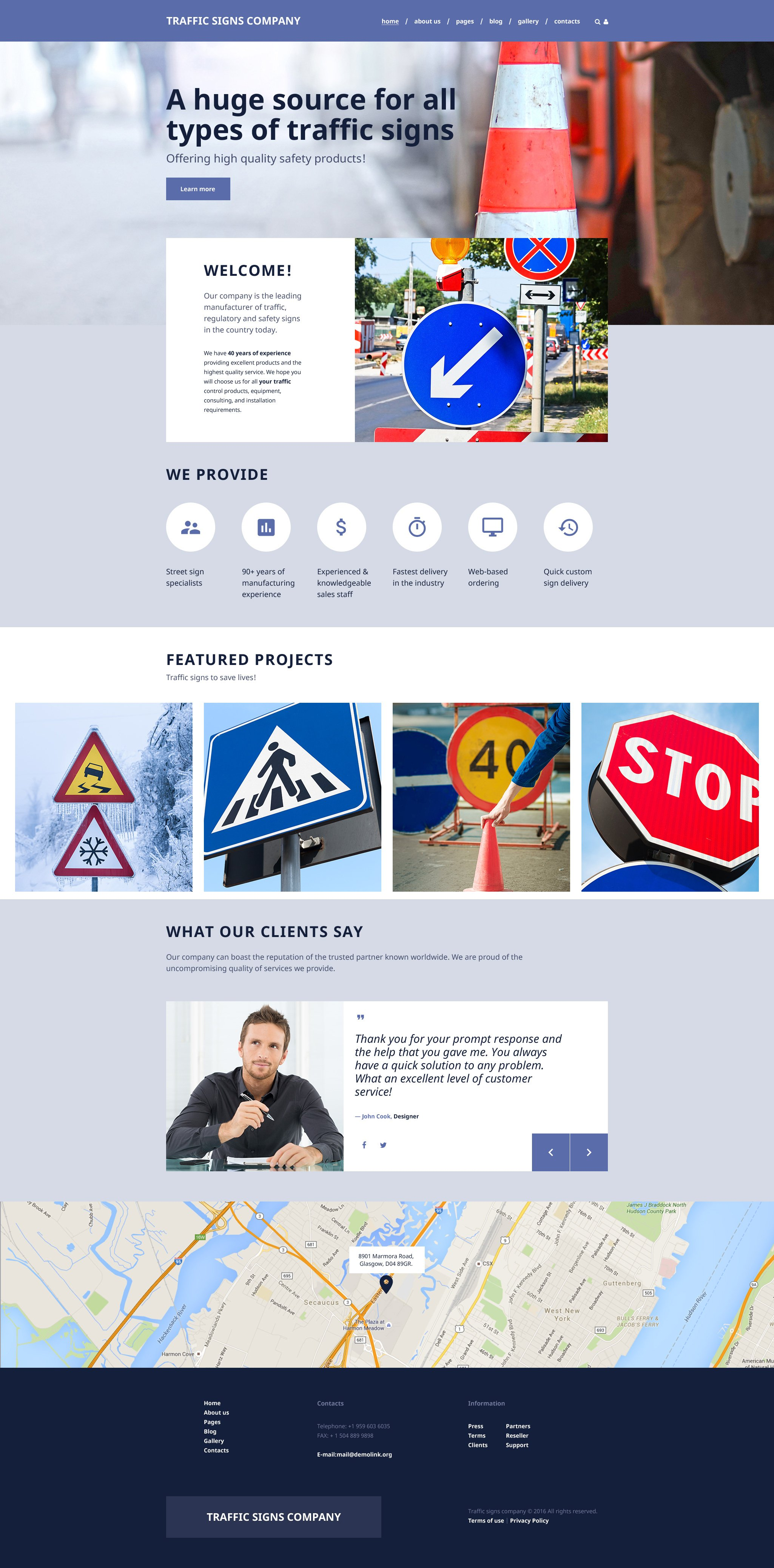 Road Construction - Paving Multipage Joomla Template